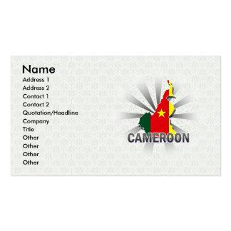 Mapa 2,0 de la bandera del Camerún Tarjetas De Visita