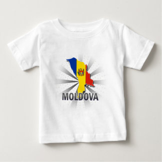 Mapa 2,0 de la bandera del Moldavia Playera De Bebé