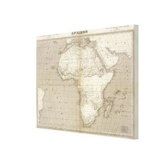 Mapa 2 de África Lona Envuelta Para Galerías