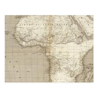 Mapa 2 de África Tarjetas Postales