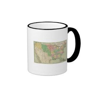 Mapa 2 de Estados Unidos Tazas