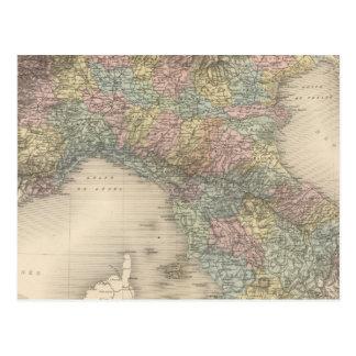 Mapa 2 de Italia Tarjeta Postal