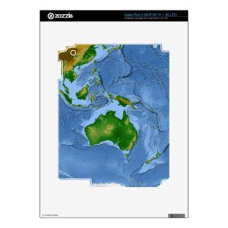 Mapa 2 de la vegetación iPad 3 pegatinas skins