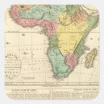 Mapa 2 del atlas de África Pegatina Cuadrada