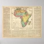Mapa 2 del atlas de África Póster