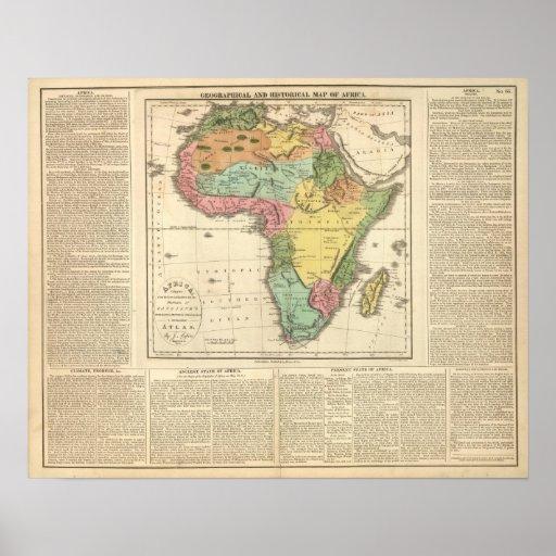 Mapa 2 del atlas de África Posters