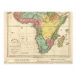 Mapa 2 del atlas de África Tarjeta Postal