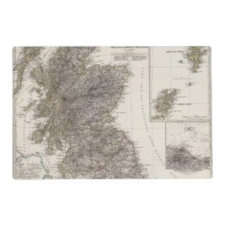 Mapa 2 del atlas de Escocia Salvamanteles