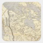 Mapa 2 del atlas de Norteamérica Pegatina Cuadrada