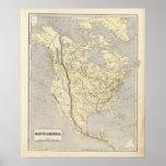Mapa 2 del atlas de Norteamérica Póster