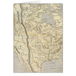 Mapa 2 del atlas de Norteamérica Tarjeta De Felicitación