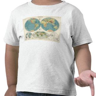 Mapa 2 del atlas del mundo camiseta