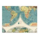 Mapa 2 del atlas del mundo postales