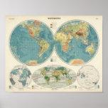 Mapa 2 del atlas del mundo póster