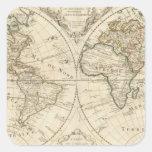 Mapa 2 pegatina cuadrada