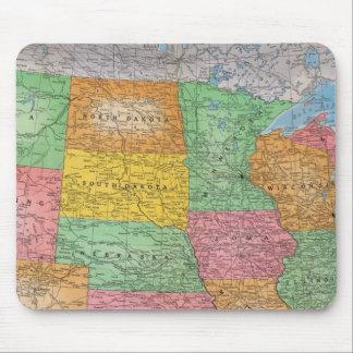 Mapa 3 de Estados Unidos Alfombrilla De Raton