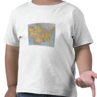 Mapa 3 de Estados Unidos Camisetas