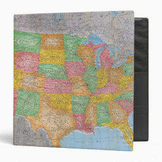 """Mapa 3 de Estados Unidos Carpeta 1 1/2"""""""