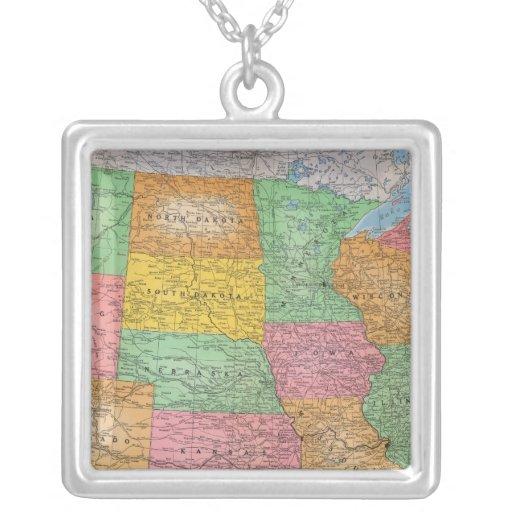 Mapa 3 de Estados Unidos Colgante Cuadrado