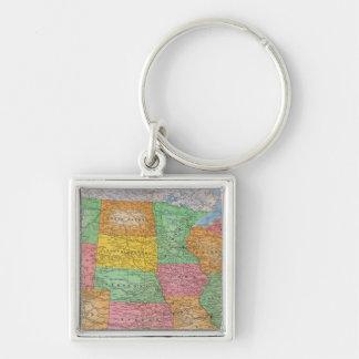 Mapa 3 de Estados Unidos Llaveros