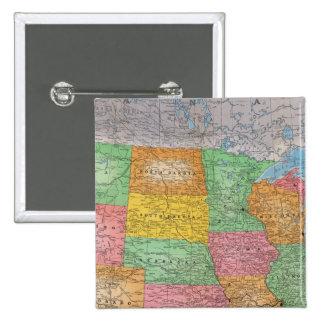 Mapa 3 de Estados Unidos Pin Cuadrada 5 Cm