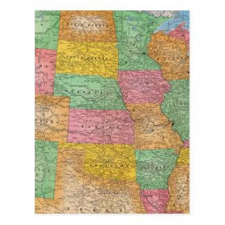 Mapa 3 de Estados Unidos Postales