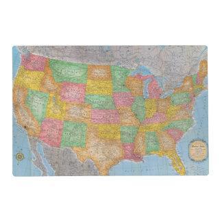 Mapa 3 de Estados Unidos Salvamanteles