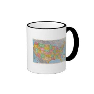 Mapa 3 de Estados Unidos Taza A Dos Colores