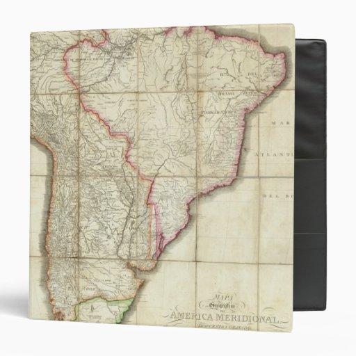 "Mapa 3 de Suramérica Carpeta 1 1/2"""