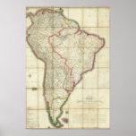 Mapa 3 de Suramérica Póster