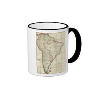 Mapa 3 de Suramérica Taza De Café