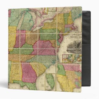 """Mapa 4 de Estados Unidos Carpeta 1 1/2"""""""