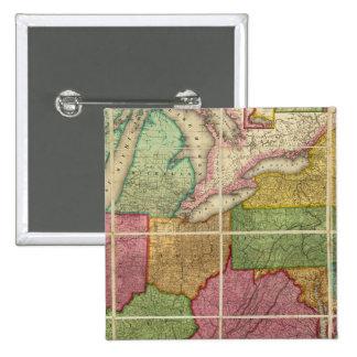 Mapa 4 de Estados Unidos Pin Cuadrado
