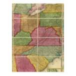 Mapa 4 de Estados Unidos Postal