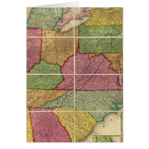 Mapa 4 de Estados Unidos Tarjeta