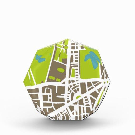 Mapa abstracto de la ciudad para el trotamundos