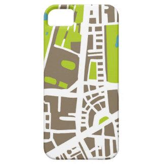 Mapa abstracto de la ciudad para el trotamundos iPhone 5 Case-Mate coberturas