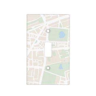 Mapa abstracto de la ciudad para el trotamundos placas para interruptor