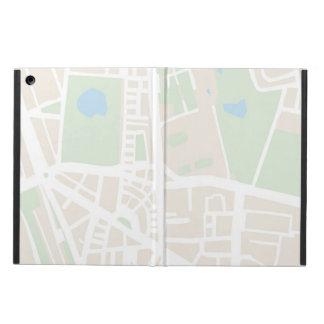 Mapa abstracto de la ciudad para la cubierta del t