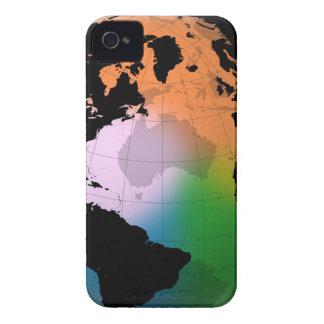 Mapa actual del norte de Océano Atlántico iPhone 4 Case-Mate Carcasas