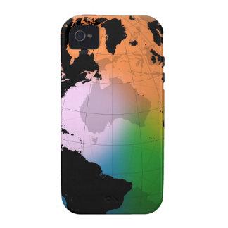 Mapa actual del norte de Océano Atlántico Case-Mate iPhone 4 Fundas
