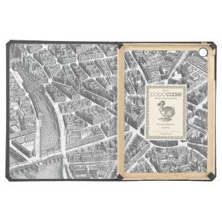 Mapa aéreo de París del vintage