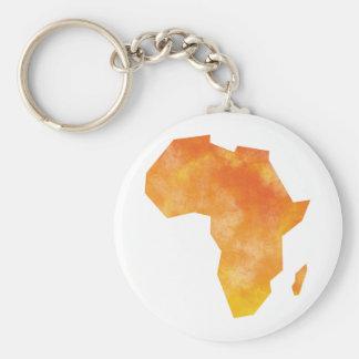 Mapa África Llavero Redondo Tipo Pin