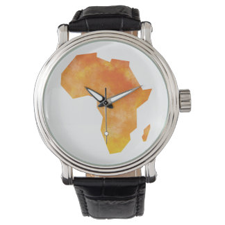 Mapa África Reloj