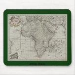Mapa africano viejo Mousepad de AfriMex Urbano