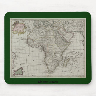 Mapa africano viejo Mousepad de AfriMex Urbano Tapetes De Raton