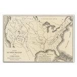 Mapa, aguas termales, Estados Unidos Papel De Seda Pequeño