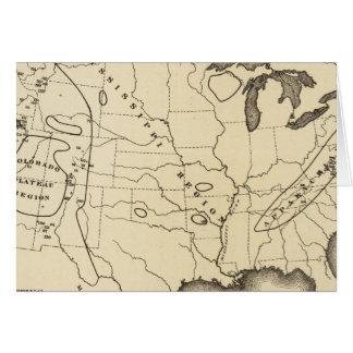 Mapa, aguas termales, Estados Unidos Tarjeta De Felicitación