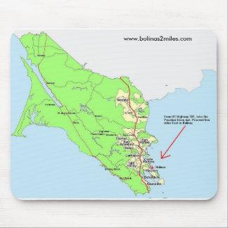 Mapa al cojín de ratón de Bolinas Alfombrilla De Raton