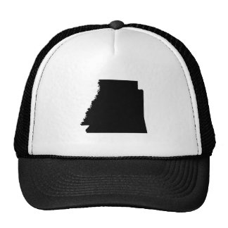 Mapa al revés de Arkansas Gorros Bordados
